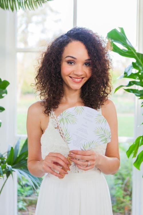 Natural curly hair bride natural makeup olive skin natural makeup