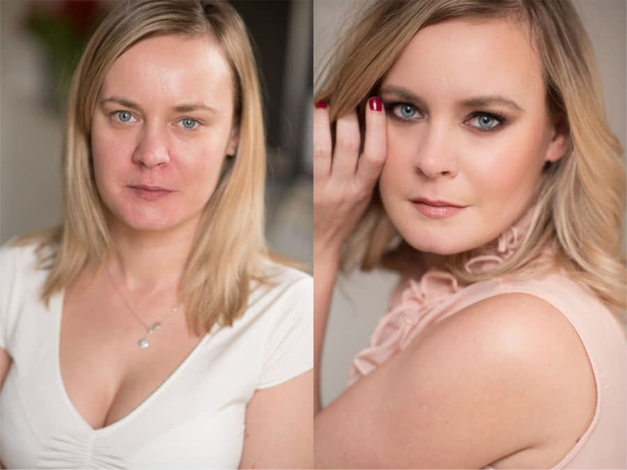 before and after makeup transformation bridal-makeup -look