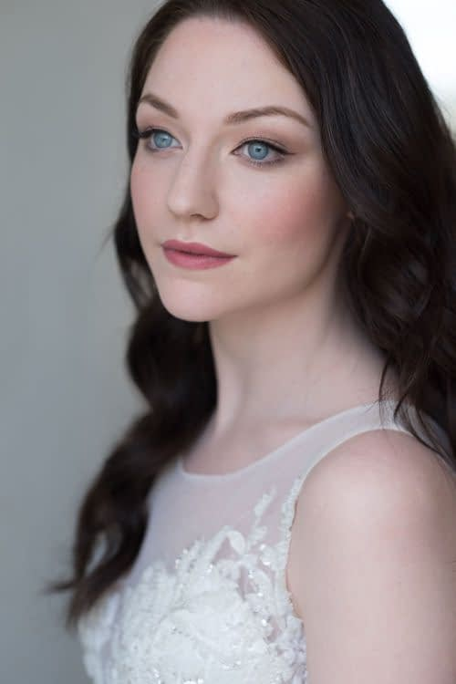Bridal portrait flawless English rose bridal makeup look for pale skin blue-eyes-long-hair-down-cruelty-free-makeup-artist