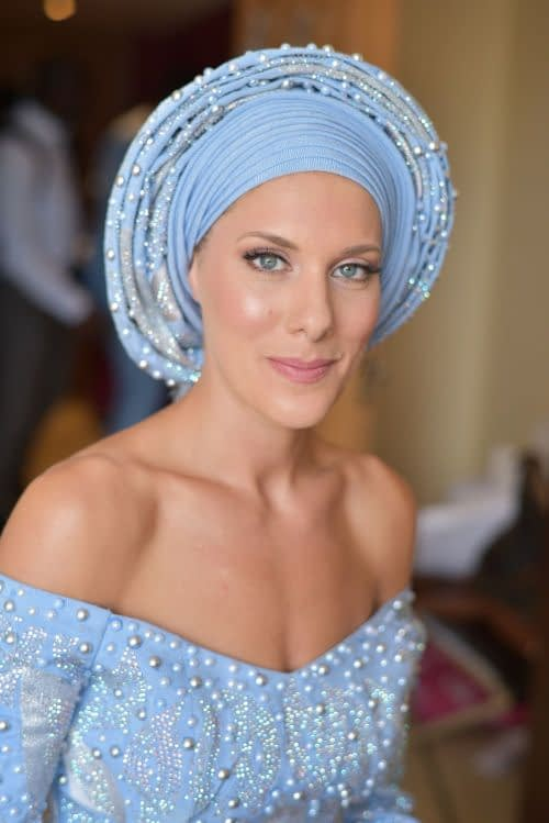 English Nigerian bride natural bridal makeup look