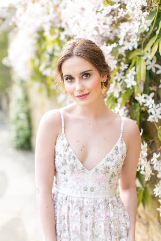 Romantic bridal makeup look for a Hever Castle wedding